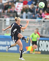 Allie Long (9) of the Washington Freedom sends over a high cross Stars during a WPS match against the Chicago Red Stars at Maryland Soccerplex on April 11 2009, in Boyd's, Maryland.  The game ended in a 1-1 tie.