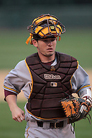 Max Rossiter #55 of the Arizona State Sun Devils during a game against the UCLA Bruins at Jackie Robinson Stadium on March 16, 2012 in Los Angeles,California. UCLA defeated Arizona State 6-5.(Larry Goren/Four Seam Images)