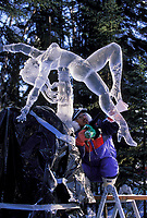 Ice sculptor Junichi Nakamura, Japan, World Ice Sculpting Competition, Fairbanks, Alaska