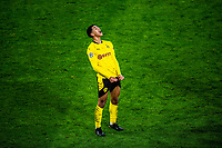 14th April 2021; Induna Park, Dortmund, Germany; UEFA Champions League Football quarter-final, Borussia Dortmund versus Manchester City; Jude Bellingham cries out in disappointment