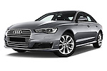 Stock pictures of low aggressive front three quarter view of 2016 Audi A6 - 4 Door Sedan Low Aggressive