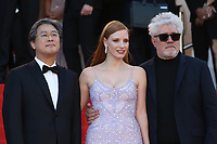 PARK CHAN-WOOK, JESSICA CHASTAIN AND PEDRO ALMODOVAR - RED CARPET OF THE FILM 'OKJA' AT THE 70TH FESTIVAL OF CANNES 2017