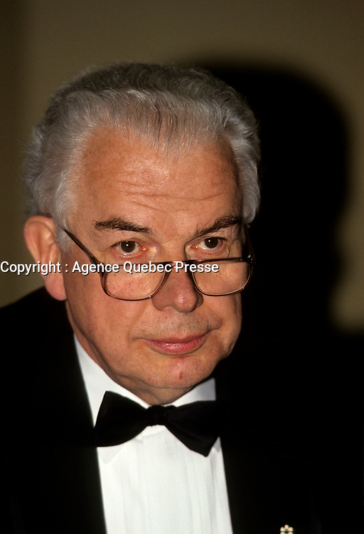 Montreal, CANADA, File Photo of Bernard Lamarre when he was President of SNC-Lavallin. circa 1990.<br /> <br /> Lamarre commented this February 2015 on the criminal fraud accusations against the company he founded.<br /> <br /> <br /> Photo : Agence Quebec Presse - Pierre Roussel