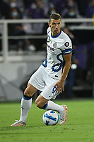 21th September 2021; Stadio Artemio Franchi, Firenze, Italy; Italian Serie A football, AC Fiorentina versus  FC Inter; Edin Dzeko of Inter