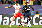 Atletico de Madrid's Jackson Martinez (r) and SL Benfica's Nicolas Gaitan during Champions League 2015/2016 match. September 30,2015. (ALTERPHOTOS/Acero)