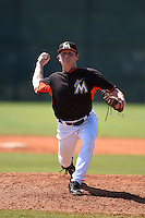 Miami Marlins pitcher CJ Robinson (94) during a minor league spring training game against the St. Louis Cardinals on March 31, 2015 at the Roger Dean Complex in Jupiter, Florida.  (Mike Janes/Four Seam Images)