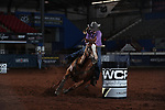 Kiley Dalchow during the second round of barrel qualifiers at the WCRA Stampede at the E. Photo by Andy Watson