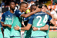 Lazar Samardzic of Udinese Calcio celebrates with team mates after scoring the victory goal of 0-1 during the Serie A football match between Spezia Calcio and Udinese Calcio at Alberto Picco stadium in La Spezia (Italy), September 12th, 2021. Photo Andrea Staccioli / Insidefoto