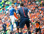 St Johnstone v Dundee United....17.05.14   William Hill Scottish Cup Final<br /> Steven Anderson heads the ball int to give saints the lead<br /> Picture by Graeme Hart.<br /> Copyright Perthshire Picture Agency<br /> Tel: 01738 623350  Mobile: 07990 594431