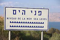 Asie/Israël/Galilée/Tibériade: les bords du lac de Tibériade et en fond les monts du Golan - le niveau du lac se situe au dessous du niveau de la mer