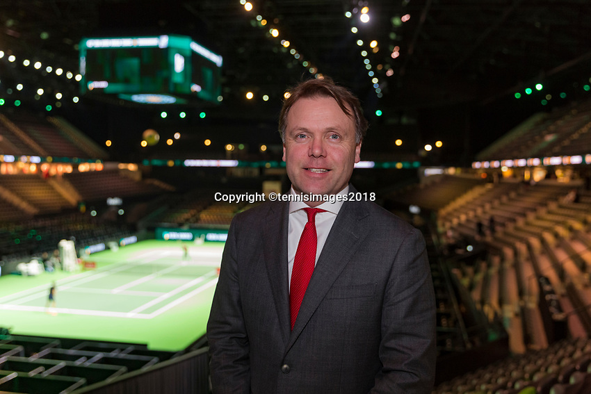 Rotterdam, The Netherlands, 17 Februari, 2018, ABNAMRO World Tennis Tournament, Ahoy, Tennis, Ernst Broekhorst.<br />