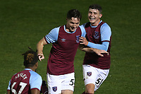 Conor Coventry of West Ham United scores the first goal for his team and celebrates during Colchester United vs West Ham United Under-21, EFL Trophy Football at the JobServe Community Stadium on 29th September 2020