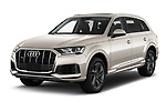 2020 Audi Q7 Advanced 5 Door SUV Angular Front automotive stock photos of front three quarter view