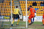 St Johnstone v Dundee United...11.02.12.. SPL.Steven Anderson gets a goal back.Picture by Graeme Hart..Copyright Perthshire Picture Agency.Tel: 01738 623350  Mobile: 07990 594431