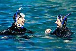 Mexico, Baja California Sur, La Paz, Isla Espiritu Santo, Snorkeling - Model Released