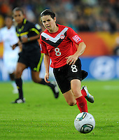 Diana Matheson of team Canada during the FIFA Women's World Cup at the FIFA Stadium in Dresden, Germany on July 5th, 2011.