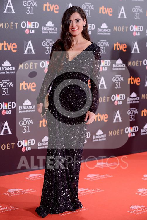 Silvia Perez Cruz attends to the Red Carpet of the Goya Awards 2017 at Madrid Marriott Auditorium Hotel in Madrid, Spain. February 04, 2017. (ALTERPHOTOS/BorjaB.Hojas)