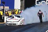 Jul. 25, 2014; Sonoma, CA, USA; NHRA pro stock driver Greg Anderson during qualifying for the Sonoma Nationals at Sonoma Raceway. Mandatory Credit: Mark J. Rebilas-