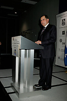 Montreal (QC) CANADA - October 8, 2008 -<br /> <br /> Ed Stelmach, Premier of Alberta Province explain to the members of  Metropolitan Montreal Board of Trade how Alberta's economy is beneficial to all Canadians.