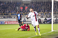 JOIE - 18 MAURO ICARDI (PSG) celebrates after scoring a goal <br /> Bruges 22-10-2019 <br /> Club Brugge - Paris Saint Germain PSG <br /> Champions League 2019/2020<br /> Foto Panoramic / Insidefoto <br /> Italy Only