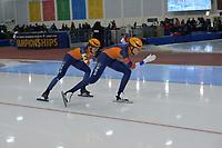 SPEEDSKATING: 13-02-2020, Utah Olympic Oval, ISU World Single Distances Speed Skating Championship, Team Sprint Ladies, Jutta Leerdam, Letitia de Jong, Team NED, ©Martin de Jong