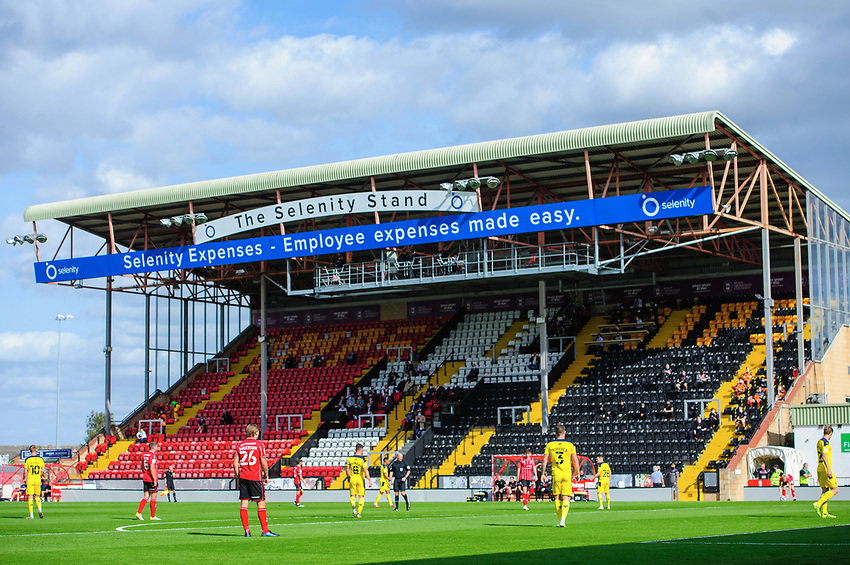 A general view of LNER Stadium, home of Lincoln City<br /> <br /> Photographer Chris Vaughan/CameraSport<br /> <br /> The EFL Sky Bet League One - Saturday 12th September 2020 - Lincoln City v Oxford United - LNER Stadium - Lincoln<br /> <br /> World Copyright © 2020 CameraSport. All rights reserved. 43 Linden Ave. Countesthorpe. Leicester. England. LE8 5PG - Tel: +44 (0) 116 277 4147 - admin@camerasport.com - www.camerasport.com - Lincoln City v Oxford United