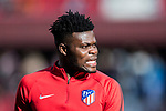 Thomas Teye Partey of Atletico de Madrid prior to the La Liga 2017-18 match between Atletico de Madrid and UD Las Palmas at Wanda Metropolitano  on January 28 2018 in Madrid, Spain. Photo by Diego Souto / Power Sport Images
