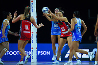 Kate Burley marks Tactix goalshoot Ellie Bird during the ANZ Premiership netball final between Northern Mystics and Mainland Tactix at Spark Arena in Auckland, New Zealand on Sunday, 8 August 2021. Photo: Dave Lintott / lintottphoto.co.nz