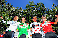 Race jersey holders after stage three of the NZ Cycle Classic UCI Oceania Tour in Wairarapa, New Zealand on Tuesday, 24 January 2017. Photo: Dave Lintott / lintottphoto.co.nz