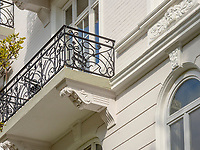 Gründerzeitviertel Haus, Eppendorfer Weg in Hamburg-Hoheluft-Ost, Deutschland, Europa<br /> tenement early 20th c , Eppendorfer Weg in Hamburg-Hoheluft-Ost, Germany, Europe
