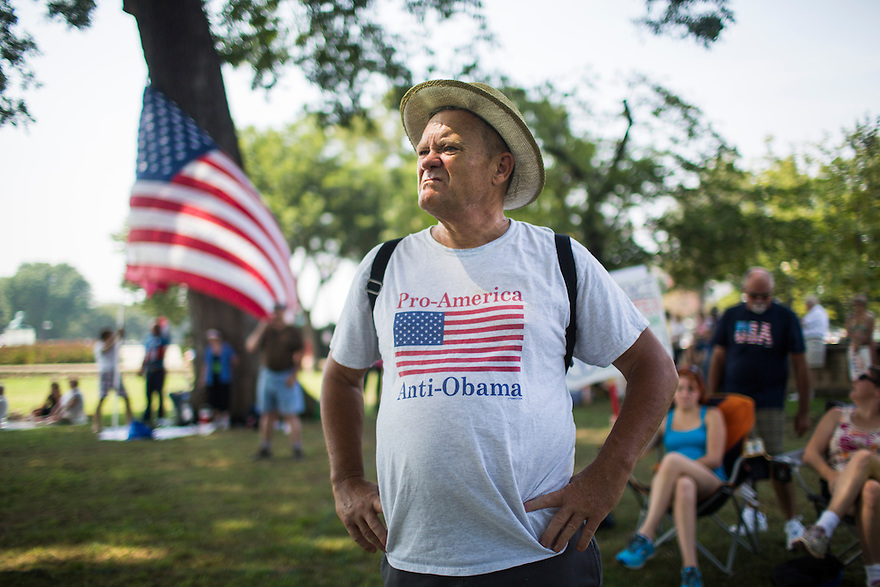 """The Tea Party holds an  """"Exempt America from Obamacare"""" rally on Capitol Hill in Washington.  Sen. Ted Cruz (TX) and Sen. Rand Paul (KY) attended the event"""
