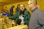 Dunsfold Landrovers Series 1 Parts Weekend 22-24/10/2004, Dunsfold, UK. Parts manager Mike Mason (right) advisng Mark Saville (middle) from Land Rover Owner Magazine on Series One Land Rover parts. --- No releases available. --- The garage Dunsfold Landrovers (DLR) was established in 1968 in Dunsfold, Surrey, UK. Due to the ever growing number of Land Rover vehicles the Dunsfold Collection of Land Rovers was launched in 1993. Supported by the company Land Rover and the Gaydon Heritage Centre today Dunsfold is maintaining the biggest and most varied collection of Land Rovers in the world. Because of the enormous quantity of original spare parts for older Land Rovers that are now stored in Dunsfold, every now and then a theme-event is held.