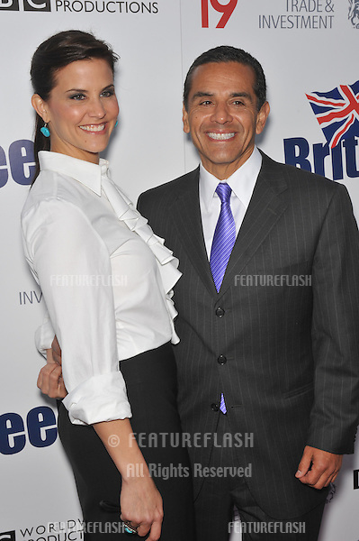 Los Angeles Mayor Antonio Villaraigosa & girlfriend Lu Parker at the champagne launch party for BritWeek 2010 at the British Consul-General's residence in Los Angeles..April 20, 2010  Los Angeles, CA.Picture: Paul Smith / Featureflash