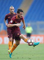 Calcio, Serie A: Roma vs Sampdoria. Roma, stadio Olimpico, 11 settembre 2016.<br /> Roma's Alessandro Florenzi controls the ball during the Italian Serie A football match between Roma and Sampdoria at Rome's Olympic stadium, 11 September 2016. Roma won 3-2.<br /> UPDATE IMAGES PRESS/Isabella Bonotto