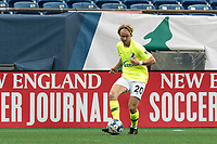 FOXBOROUGH, MA - MAY 12: Devin Boyce #20 of Union Omaha passes the ball during a game between Union Omaha and New England Revolution II at Gillette Stadium on May 12, 2021 in Foxborough, Massachusetts.
