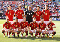 22 MAY 2010:  Germany starting 11 before the International Friendly soccer match between Germany WNT vs USA WNT at Cleveland Browns Stadium in Cleveland, Ohio. USA defeated Germany 4-0 on May 22, 2010.
