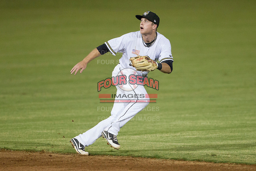 San Antonio Missions second baseman Cory Spangenberg (30) on defense in the Texas League baseball game against the Frisco Roughriders on August 22, 2013 at the Nelson Wolff Stadium in San Antonio, Texas. Frisco defeated San Antonio 2-1. (Andrew Woolley/Four Seam Images)