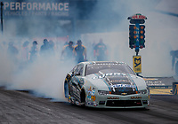 Sep 1, 2017; Clermont, IN, USA; NHRA pro stock driver Matt Hartford during qualifying for the US Nationals at Lucas Oil Raceway. Mandatory Credit: Mark J. Rebilas-USA TODAY Sports