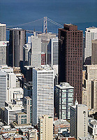 aerial photograph of 555 California Street, 101 California Street and adjacent skyscrapers, San Francisco, California