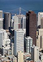 aerial photograph of 555 California Street, 101 California Street and adjacent skyscrapers, San Francisco, California