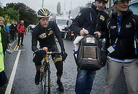 stage winner: Gerald Ciolek (DEU) on his way to the podium<br /> <br /> Tour of Britain<br /> stage 2: Carlisle to Kendal (187km)