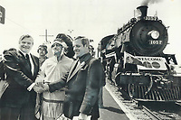 Chinguacousy Indians flagged down the inaugural run of GO service between Georgetown and Toronto and Great Chief Cyril Clarke; 75 a former reeve of Chinguacousy Township; produced a proclamation which he and Ontario Premier William Davis signed; sealing agreement with peel Region Chairman Lou Parsons. Davis pledged the iron horse would run like the wind and not run over buffalo.