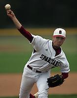 Brandt Walker pitches for St Stephen's School in Austin, Texas in March 2006. Photo by Andrew Woolley/Four Seam Images