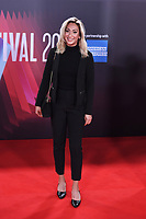 LONDON, ENGLAND - OCTOBER 10: Saskia Chana attending 'The Tender Bar' Premiere - the 65th BFI London Film Festival at The Royal Festival Hall on October 10, 2021, London, England.<br /> CAP/MAR<br /> ©MAR/Capital Pictures
