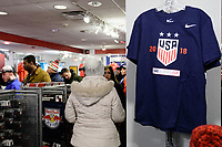 Harrison, NJ - Sunday March 04, 2018: U.S. Soccer Store during a 2018 SheBelieves Cup match match between the women's national teams of the United States (USA) and France (FRA) at Red Bull Arena.