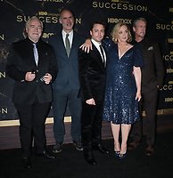 """October 12, 2021.Brian Cox, Jesse Armstrong, Kieran Culkin, ,J. Smith-Cameron, Alan Ruck attend HBO's """"Succession"""" Season 3 Premiere at the  American Museum of Natural History in New York October 12, 2021 Credit: RW/MediaPunch"""