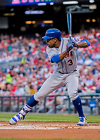 28 April 2017: New York Mets outfielder Curtis Granderson at bat against the Washington Nationals at Nationals Park in Washington, DC. The Mets defeated the Nationals 7-5 to take the first game of their 3-game weekend series. Mandatory Credit: Ed Wolfstein Photo *** RAW (NEF) Image File Available ***