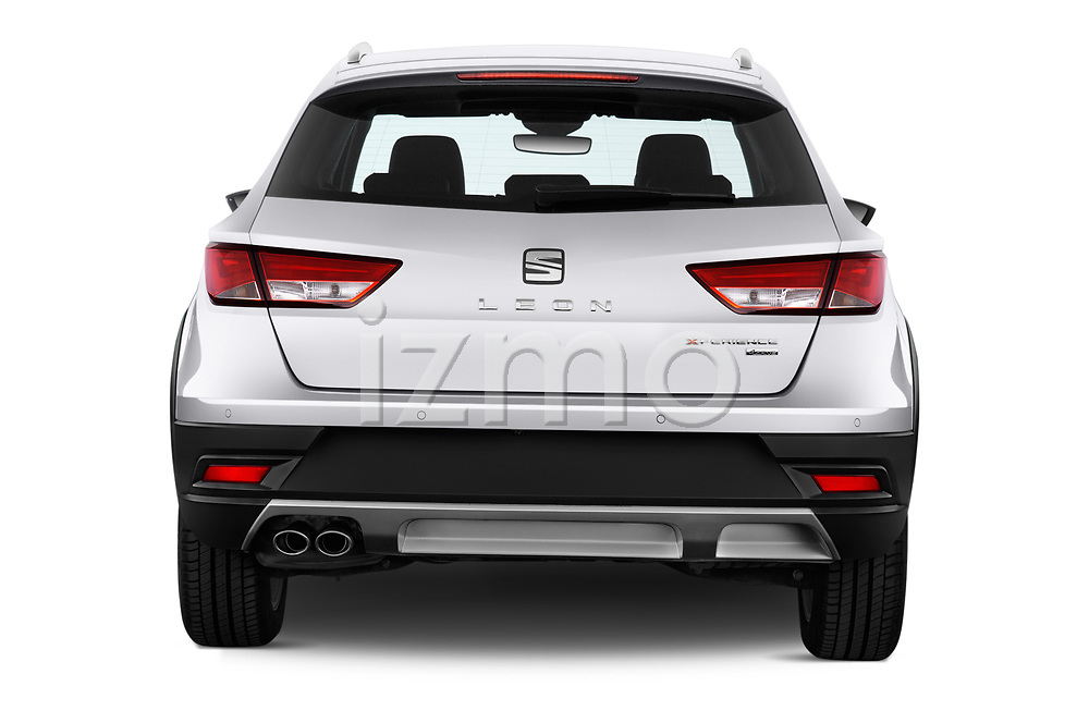 Straight rear view of a 2017 Seat Leon ST Xperience Base 5 Door Wagon stock images