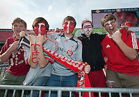 23 April 2011: Some dedicated Toronto FC fans during a game between the Columbus Crew and the Toronto FC at BMO Field in Toronto, Ontario Canada..The game ended in a 1-1 draw.