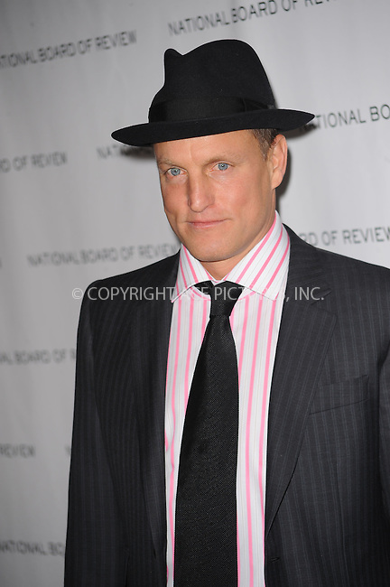 WWW.ACEPIXS.COM . . . . . ....January 12 2010, New York City.... Actor Woody Harrelson arriving at the National Board of Review of Motion Pictures Awards gala at Cipriani 42nd Street on January 12, 2010 in New York City.....Please byline: KRISTIN CALLAHAN - ACEPIXS.COM.. . . . . . ..Ace Pictures, Inc:  ..(212) 243-8787 or (646) 679 0430..e-mail: picturedesk@acepixs.com..web: http://www.acepixs.com